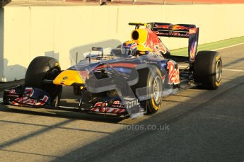 World © Octane Photographic 2011. Formula 1 testing Monday 21st February 2011 Circuit de Catalunya. Red Bull RB7 - Mark Webber. Digital ref : 0012CB1D2658