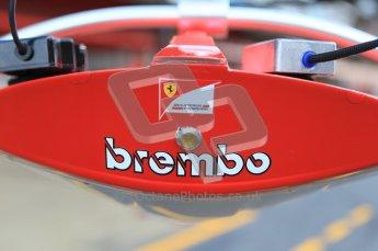 World © Octane Photographic 2011. Formula 1 testing Monday 21st February 2011 Circuit de Catalunya. Ferrari pitlane traffic lights Digital ref : 0012CB1D2702