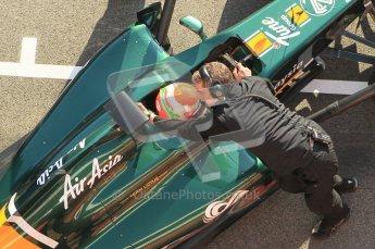 World © Octane Photographic 2011. Formula 1 testing Monday 21st February 2011 Circuit de Catalunya. Lotus T124 - Jarno Trulli. Digital ref : 0012CB1D2802