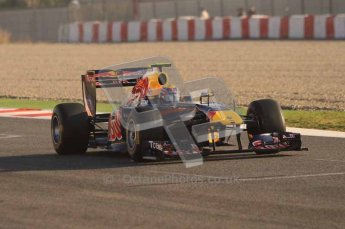World © Octane Photographic 2011. Formula 1 testing Monday 21st February 2011 Circuit de Catalunya. Red Bull RB7 - Mark Webber. Digital ref : 0012LW7D5317