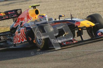 World © Octane Photographic 2011. Formula 1 testing Monday 21st February 2011 Circuit de Catalunya. Red Bull RB7 - Mark Webber. Digital ref : 0012LW7D5319