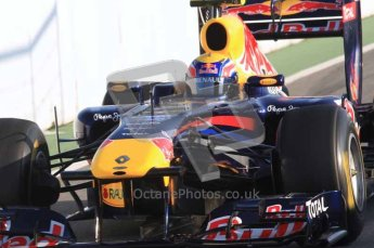World © Octane Photographic 2011. Formula 1 testing Monday 21st February 2011 Circuit de Catalunya. Red Bull RB7 - Mark Webber. Digital ref : 0012LW7D5336