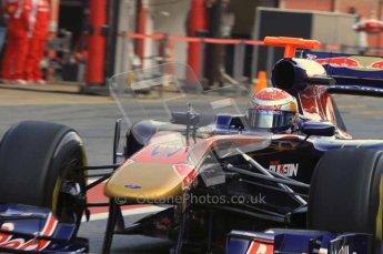 World © Octane Photographic 2011. Formula 1 testing Monday 21st February 2011 Circuit de Catalunya. Toro Rosso STR6 - Sebastien Buemi. Digital ref : 0012CB5D0276