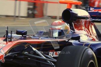 World © Octane Photographic 2011. Formula 1 testing Monday 21st February 2011 Circuit de Catalunya. Toro Rosso STR6 - Sebastien Buemi. Digital ref : 0012LW7D5397