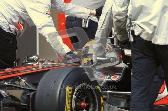 World © Octane Photographic 2011. Formula 1 testing Monday 21st February 2011 Circuit de Catalunya. McLaren MP4/26 - Lewis Hamilton. Digital ref : 0012LW7D5458