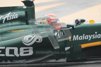© Octane Photographic 2011. Formula 1 testing Sunday 20th February 2011 Circuit de Catalunya. Lotus T124 - Jarno Trulli. Digital ref : 0010CB1D1103