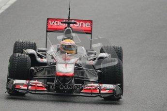 © Octane Photographic 2011. Formula 1 testing Sunday 20th February 2011 Circuit de Catalunya. McLaren MP4/26 - Lewis Hamilton. Digital ref : 0010CB1D1123
