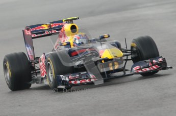 © Octane Photographic 2011. Formula 1 testing Sunday 20th February 2011 Circuit de Catalunya. Red Bull RB7 - Mark Webber. Digital ref : 0010CB1D1167