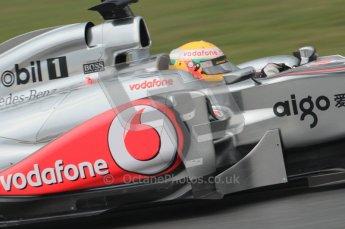 © Octane Photographic 2011. Formula 1 testing Sunday 20th February 2011 Circuit de Catalunya. McLaren MP4/26 - Lewis Hamilton. Digital ref : 0010CB1D1285