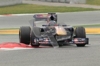 © Octane Photographic 2011. Formula 1 testing Sunday 20th February 2011 Circuit de Catalunya. Toro Rosso STR6 - Daniel Ricciardo. Digital ref : 0010CB1D2222