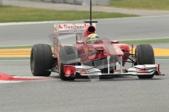 © Octane Photographic 2011. Formula 1 testing Sunday 20th February 2011 Circuit de Catalunya. Ferrari 150° Italia - Felipe Massa. Digital ref : 0010CB1D2243