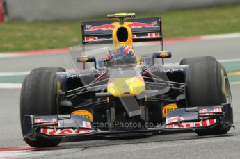 © Octane Photographic 2011. Formula 1 testing Sunday 20th February 2011 Circuit de Catalunya. Red Bull RB7 - Mark Webber. Digital ref : 0010CB1D2277