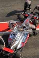 © Octane Photographic 2011. Formula 1 testing Sunday 20th February 2011 Circuit de Catalunya. McLaren MP4/26 - Lewis Hamilton. Digital ref : 0010CB5D0351