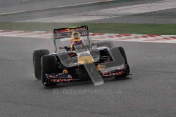 © Octane Photographic 2011. Formula 1 testing Sunday 20th February 2011 Circuit de Catalunya. Red Bull RB7 - Mark Webber. Digital ref : 0010CB1D1027