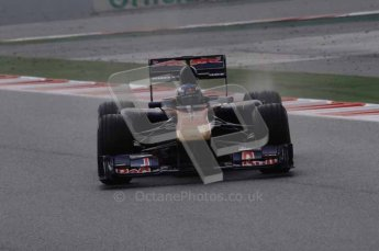 © Octane Photographic 2011. Formula 1 testing Sunday 20th February 2011 Circuit de Catalunya. Toro Rosso STR6 - Daniel Ricciardo. Digital ref : 0010CB1D1027