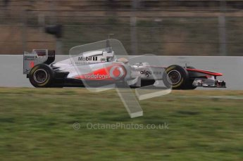 © Octane Photographic 2011. Formula 1 testing Sunday 20th February 2011 Circuit de Catalunya. McLaren MP4/26 - Lewis Hamilton. Digital ref : 0010LW7D2809