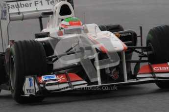 © Octane Photographic 2011. Formula 1 testing Sunday 20th February 2011 Circuit de Catalunya. Sauber C30 - Sergio Perez. Digital ref : 0010LW7D2902