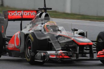 © Octane Photographic 2011. Formula 1 testing Sunday 20th February 2011 Circuit de Catalunya. McLaren MP4/26 - Lewis Hamilton. Digital ref : 0010LW7D2993