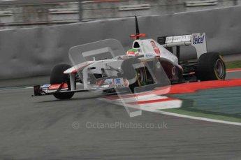 © Octane Photographic 2011. Formula 1 testing Sunday 20th February 2011 Circuit de Catalunya. Sauber C30 - Sergio Perez. Digital ref : 0010LW7D3800