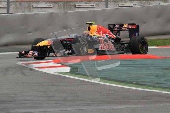 © Octane Photographic 2011. Formula 1 testing Sunday 20th February 2011 Circuit de Catalunya. Red Bull RB7 - Mark Webber. Digital ref : 0010LW7D4297
