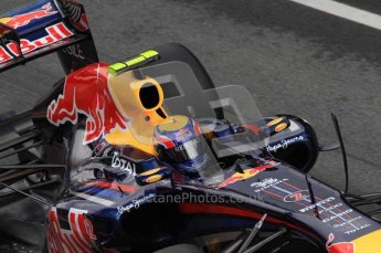 © Octane Photographic 2011. Formula 1 testing Sunday 20th February 2011 Circuit de Catalunya. Red Bull RB7 - Mark Webber. Digital ref : 0010LW7D5028