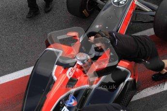 © Octane Photographic 2011. Formula 1 testing Sunday 20th February 2011 Circuit de Catalunya. Virgin MVR-02 - Timo Glock. Digital ref : 0010LW7D5035