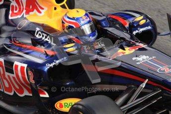 © Octane Photographic 2011. Formula 1 testing Sunday 20th February 2011 Circuit de Catalunya. Red Bull RB7 - Mark Webber. Digital ref : 0010LW7D5050