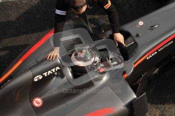 © Octane Photographic 2011. Formula 1 testing Sunday 20th February 2011 Circuit de Catalunya. Hispania F110 - Giorgio Mondini. Digital ref : 0010LW7D5180