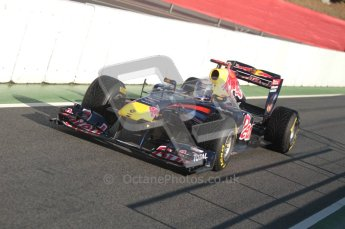 World © Octane Photographic 2010. © Octane Photographic 2011. Formula 1 testing Friday 18th February 2011 Circuit de Catalunya. Red Bull RB7 - Sebastian Vettel. Digital ref : 0024CB1D9849