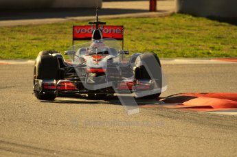 World © Octane Photographic 2010. © Octane Photographic 2011. Formula 1 testing Friday 18th February 2011 Circuit de Catalunya. McLaren MP4/26 - Jenson Button. Digital ref : 0024CB7D0058
