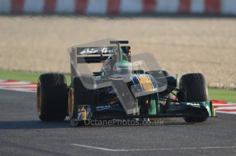World © Octane Photographic 2010. © Octane Photographic 2011. Formula 1 testing Friday 18th February 2011 Circuit de Catalunya. Lotus T128 - Heikki Kovalainen. Digital ref : 0024CB7D9684