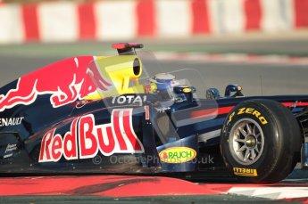 World © Octane Photographic 2010. © Octane Photographic 2011. Formula 1 testing Saturday 19th February 2011 Circuit de Catalunya. Red Bull RB7 - Sebastian Vettel. Digital ref : 0025CB1D0056