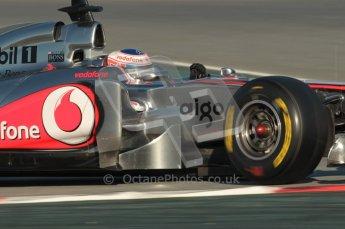 World © Octane Photographic 2010. © Octane Photographic 2011. Formula 1 testing Saturday 19th February 2011 Circuit de Catalunya. McLaren MP4/26 - Jenson Button. Digital ref : 0025CB1D0166