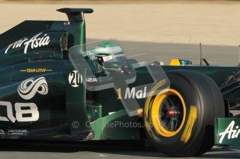 World © Octane Photographic 2010. © Octane Photographic 2011. Formula 1 testing Saturday 19th February 2011 Circuit de Catalunya. Lotus T124 - Heikki Kovalainen. Digital ref : 0025CB1D0198