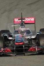 World © Octane Photographic 2010. © Octane Photographic 2011. Formula 1 testing Saturday 19th February 2011 Circuit de Catalunya. McLaren MP4/26 - Jenson Button. Digital ref : 0025CB1D0359