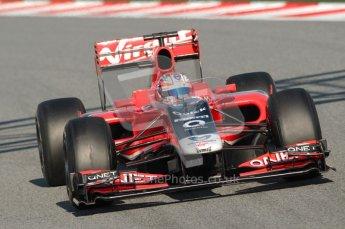 World © Octane Photographic 2010. © Octane Photographic 2011. Formula 1 testing Saturday 19th February 2011 Circuit de Catalunya. Virgin MVR-02 - Timo Glock. Digital ref : 0025CB1D0400