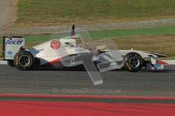 World © Octane Photographic 2010. © Octane Photographic 2011. Formula 1 testing Saturday 19th February 2011 Circuit de Catalunya. Sauber C30 - Kamui Kobayashi. Digital ref : 0025CB1D0473