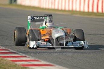 World © Octane Photographic 2010. © Octane Photographic 2011. Formula 1 testing Saturday 19th February 2011 Circuit de Catalunya. Force India VJM04 - Paul di Resta. Digital ref : 0025CB1D0559