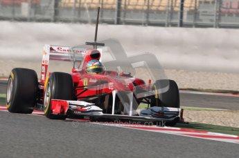 World © Octane Photographic 2010. © Octane Photographic 2011. Formula 1 testing Saturday 19th February 2011 Circuit de Catalunya. Ferrari 150° Italia - Fernando Alonso. Digital ref : 0025CB1D0763