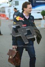 World © Octane Photographic 2010. © Octane Photographic 2011. Formula 1 testing Saturday 19th February 2011 Circuit de Catalunya. Red Bull Racing - Christian Horner. Digital ref : 0025CB5D0003