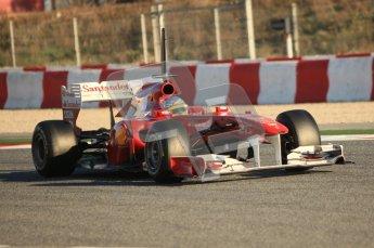 World © Octane Photographic 2010. © Octane Photographic 2011. Formula 1 testing Saturday 19th February 2011 Circuit de Catalunya. Ferrari 150° Italia - Fernando Alonso. Digital ref : 0025CB5D0028