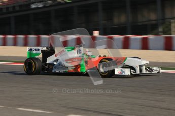 World © Octane Photographic 2010. © Octane Photographic 2011. Formula 1 testing Saturday 19th February 2011 Circuit de Catalunya. Force India VJM04 - Paul di Resta. Digital ref : 0025CB5D0042