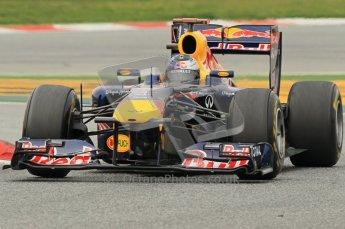 World © Octane Photographic 2011. Formula 1 testing Wednesday 9th March 2011 Circuit de Catalunya. Red Bull RB7 - Sebastian Vettel. Digital ref : 0020CB1D2449