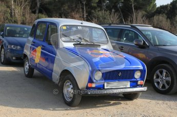 World © Octane Photographic 2011. Formula 1 testing Wednesday 9th March 2011 Circuit de Catalunya. Red Bull Renault4 in the public carpark. Digital ref : 0020CB5D5732