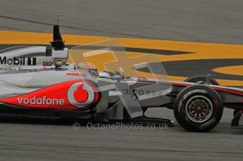 World © Octane Photographic 2011. Formula 1 testing Wednesday 9th March 2011 Circuit de Catalunya. McLaren MP4/26 - Lewis Hamilton. Digital ref : 0020LW7D8568