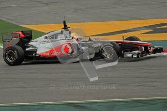 World © Octane Photographic 2011. Formula 1 testing Wednesday 9th March 2011 Circuit de Catalunya. McLaren MP4/26 - Lewis Hamilton. Digital ref : 0020LW7D8743
