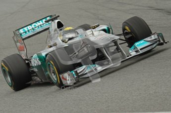 World © Octane Photographic 2011. Formula 1 testing Wednesday 9th March 2011 Circuit de Catalunya. Mercedes MGP W02 - Nico Rosberg. Digital ref : 0020LW7D8881
