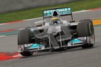 World © Octane Photographic 2011. Formula 1 testing Wednesday 9th March 2011 Circuit de Catalunya. Mercedes MGP W02 - Nico Rosberg. Digital ref : 0020LW7D9429