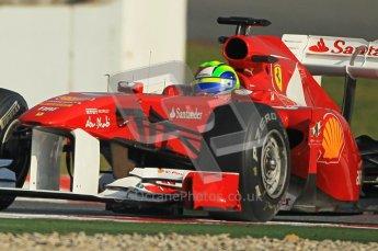 World © Octane Photographic 2011. Formula 1 testing Thursday 10th March 2011 Circuit de Catalunya. Ferrari 150° Italia - Felipe Massa. Digital ref : 0023cb1d2902