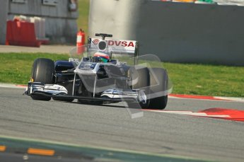 World © Octane Photographic 2011. Formula 1 testing Thursday 10th March 2011 Circuit de Catalunya. Williams FW33 - Rubens Barrichello. Digital ref : 0023cb1d2937
